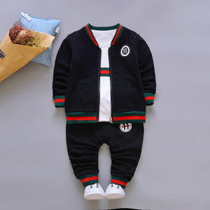 Wholesale 11 cartoon cotton 3 pieces sportswear christmas clothes set for kids
