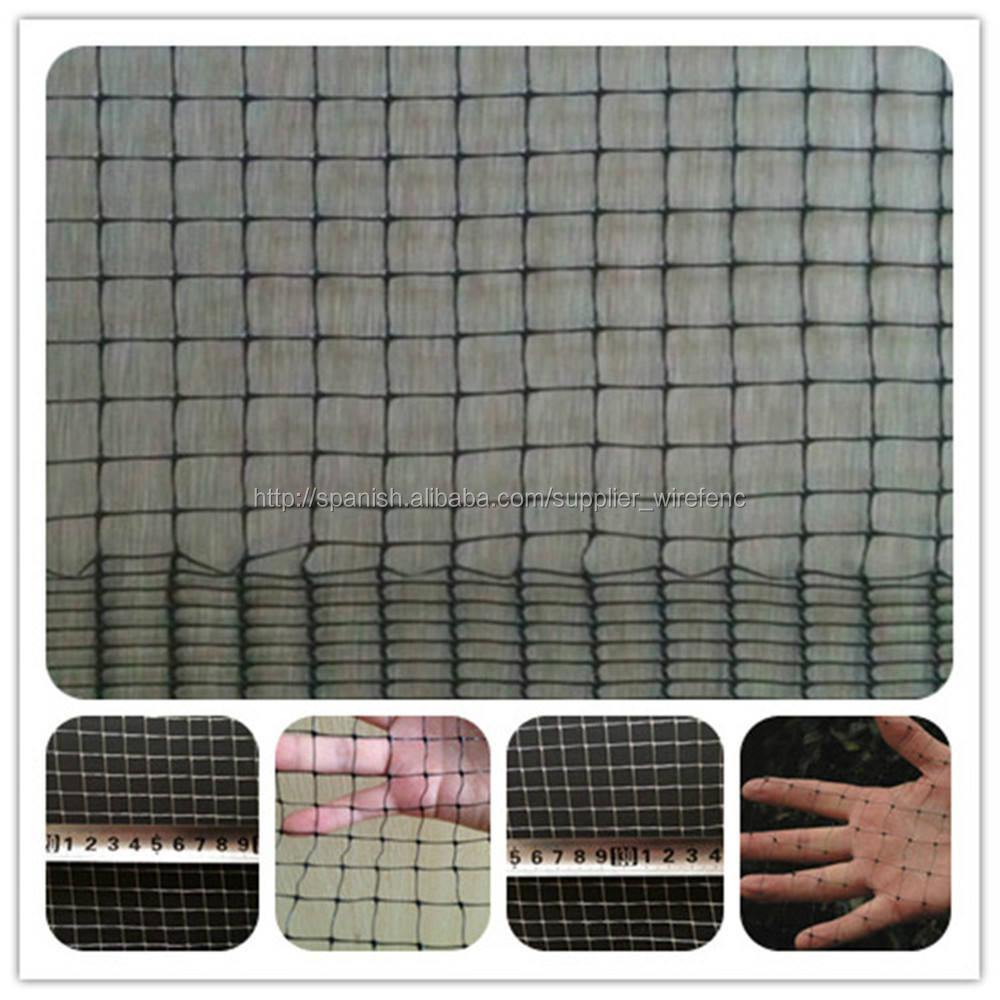 Mallado de plástico y cuadro cuadrado en varias dimensiones de rollo
