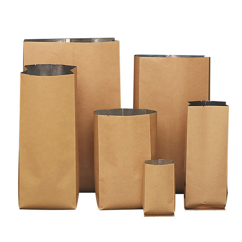 Wholesale Customizable Heat Seal Aluminum Foil Lined Kraft paper Bag