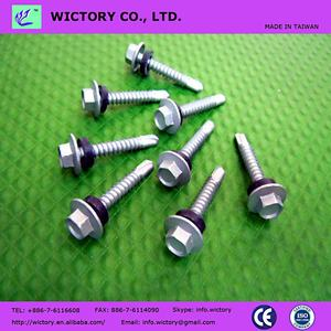 MADE IN TAIWAN hex flange head zinc plated Tek SELF DRILLING SCREWS
