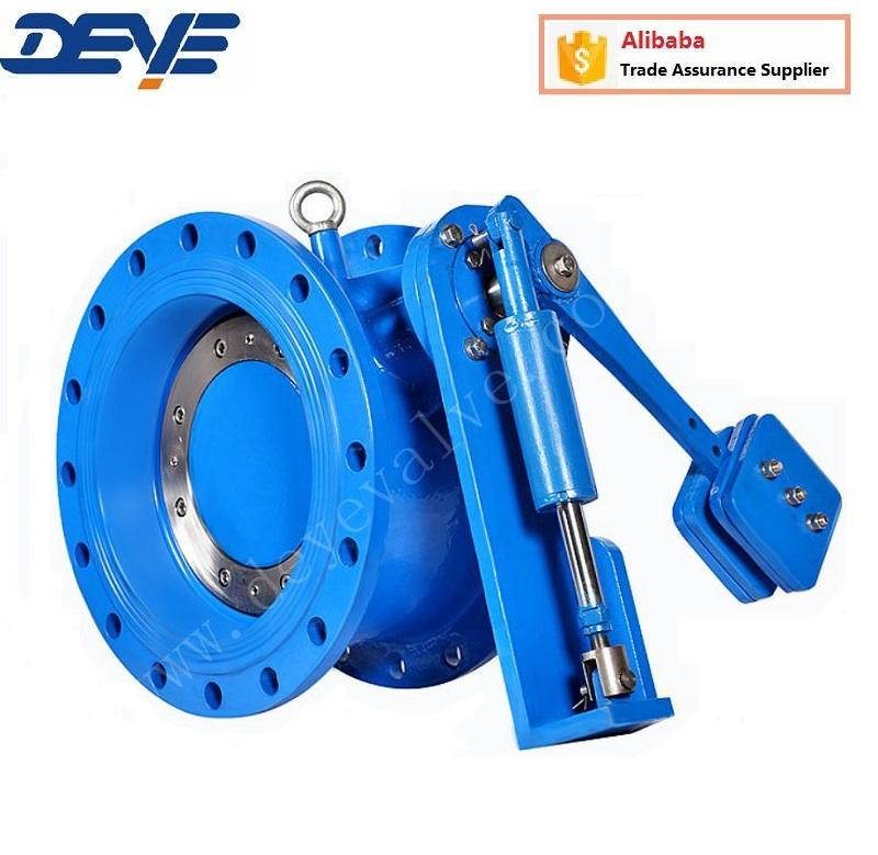 PN10 PN15 Ductile Iron Flanged Ends Tilting Disc Check Valve with lever weight