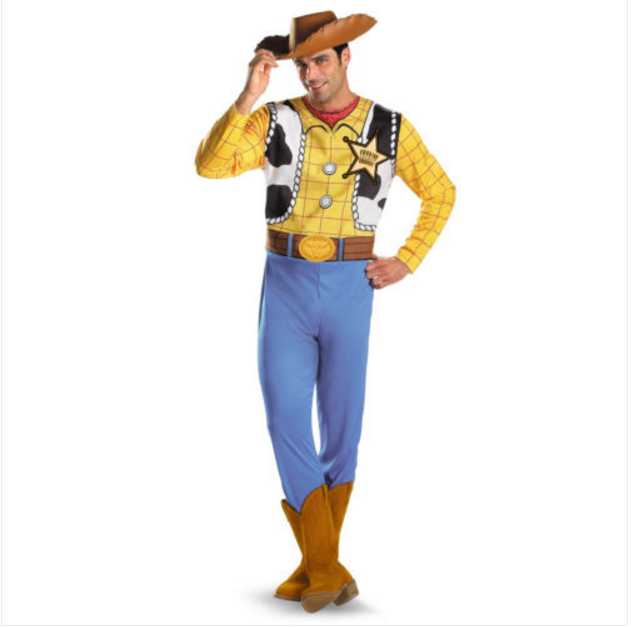 Woody Classic Sheriff Pixar Toy Story Cowboy Western Mens Costume AD1415