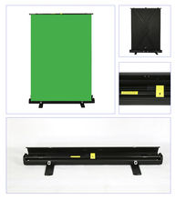 Customize Size OEM Logo Chromakey Solid Photography Studio Floor Rising Green Screen For Background