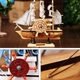 Christmas Gift Desk Ornaments Office Shop Club Home Decoration Music Boat