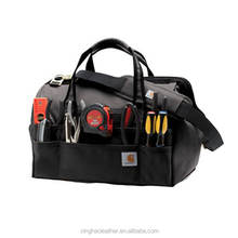 Durable canvas muli funtion tote bag,carpenters tool bag electrician tool bag