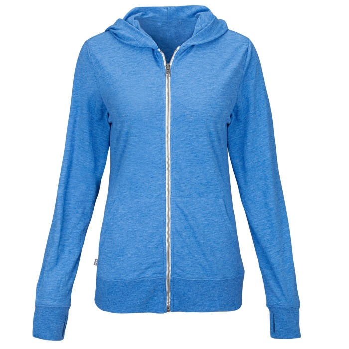 65/35 poly cotton jersey knit women's knit 풀 zip hoody womens fitted hoodie