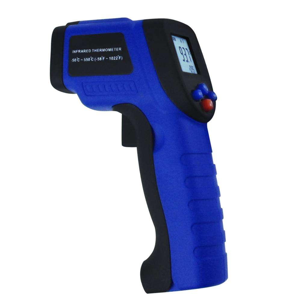 Non Contact Infrared IR Laser -50~550degC/-58~1022degF Thermometer Cooking, Automotive, Field Instant Read Industrial Meter