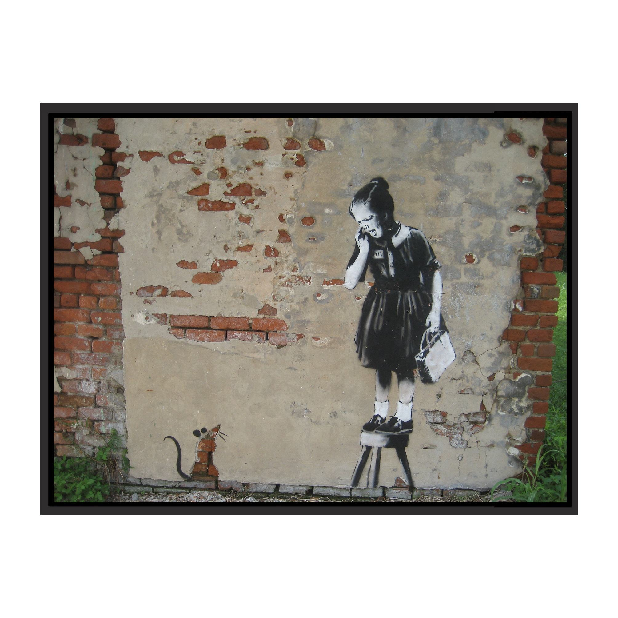 MAID BANKSY GICLEE CANVAS ART Choose your size