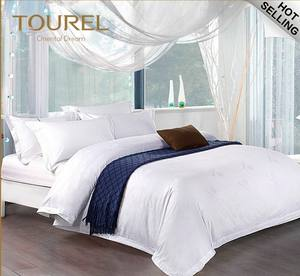 Yangzhou Hotel Supplies Wholesale Hotel Collection Sheet Sets/Dubai Hotel Bed Set Duvet Cover/white Stripe Hotel Bedding Sets