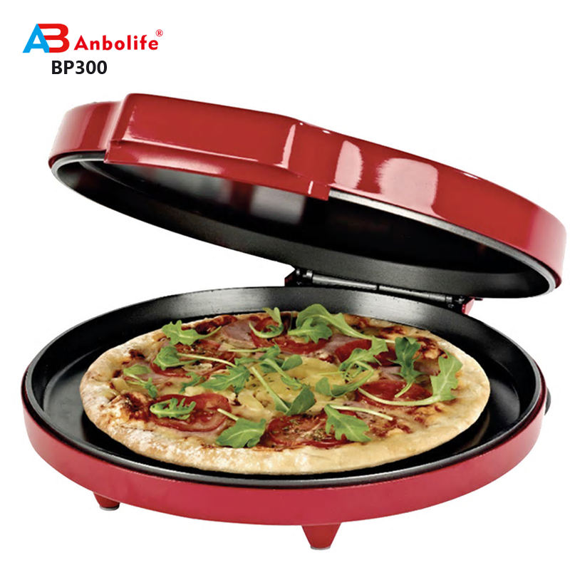 anbolife electric 1200w muti-fuction portable pizza maker and mobile electric pizza making machine
