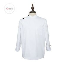 GRS certificated eco friendly RPET recycle fabric restaurant delivery men's waterproof chef uniform