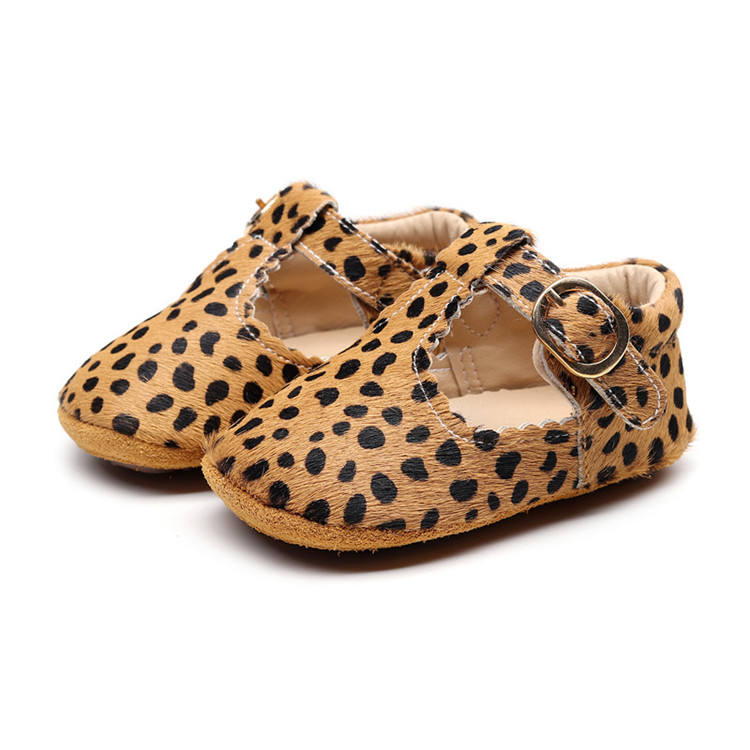Newborn Genuine Leather Baby Shoes Zebra Pattern Leopard Baby Moccasins Mary Jane Baby Girls Dress Shoes Toddler Footwear