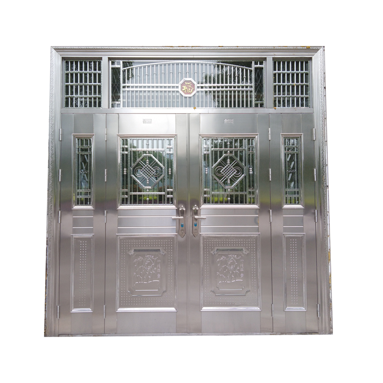 Front Door Window Inserts Residential Exterior Stainless Steel Security Doors