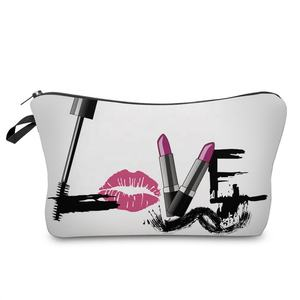 Groothandel Custom Logo Fashion Design Potlood Tas Borstel Opslag Pouch Make-Up Tas Reizen Make