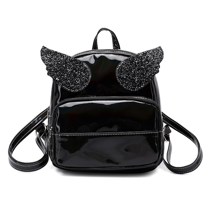 2018 New Trendy Creative Cute Laser Wings Shiny Student Travel Backpack Bag