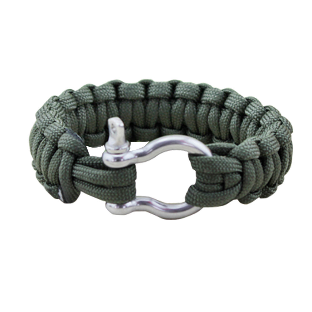 Hoge Kwaliteit Survival <span class=keywords><strong>Paracord</strong></span> Armband Gesp met Verstelbare Beugel