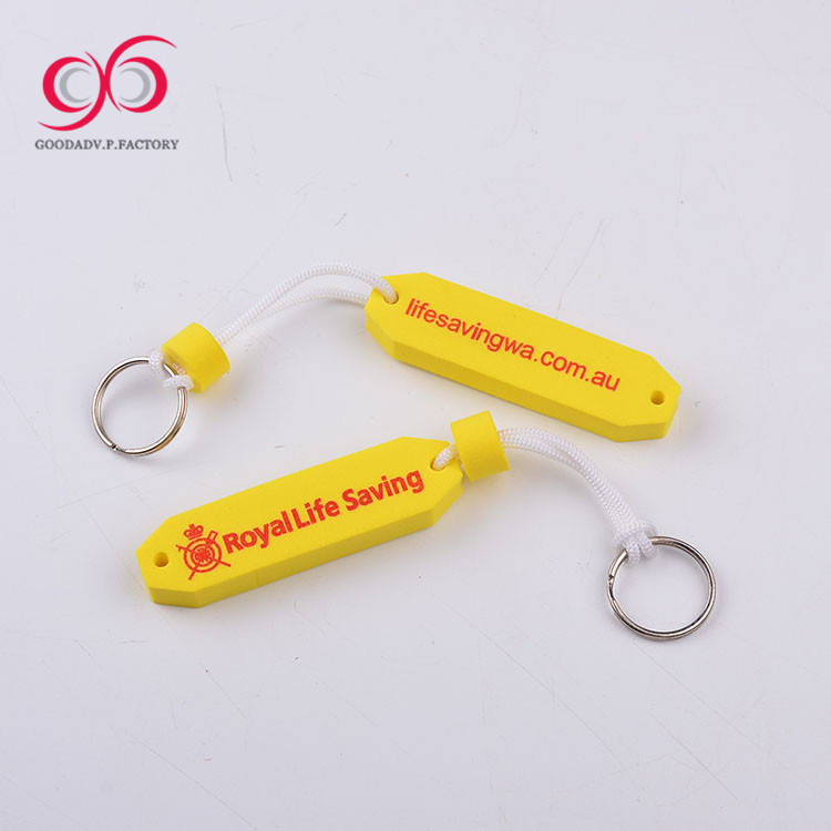 High quality fashion custom logo eva foam keychain cute souvenir keychain car accessories