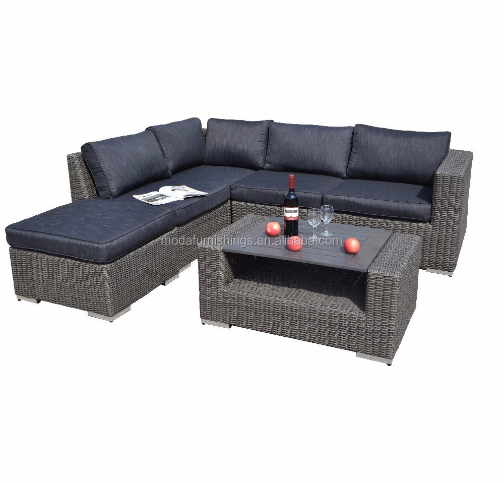 6PC Leisure Cebu Wilson and Fisher Patio Furniture Lounge Sofa Bed Double Deck Daybed Rattan Outdoor