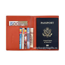 Cheap Custom RFID Blocking Leather Travel Passport Holder
