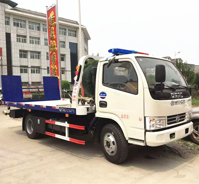 2019 New DFAC light wrecker tow truck, 3 ton flatbed towing truck sale in Philippines