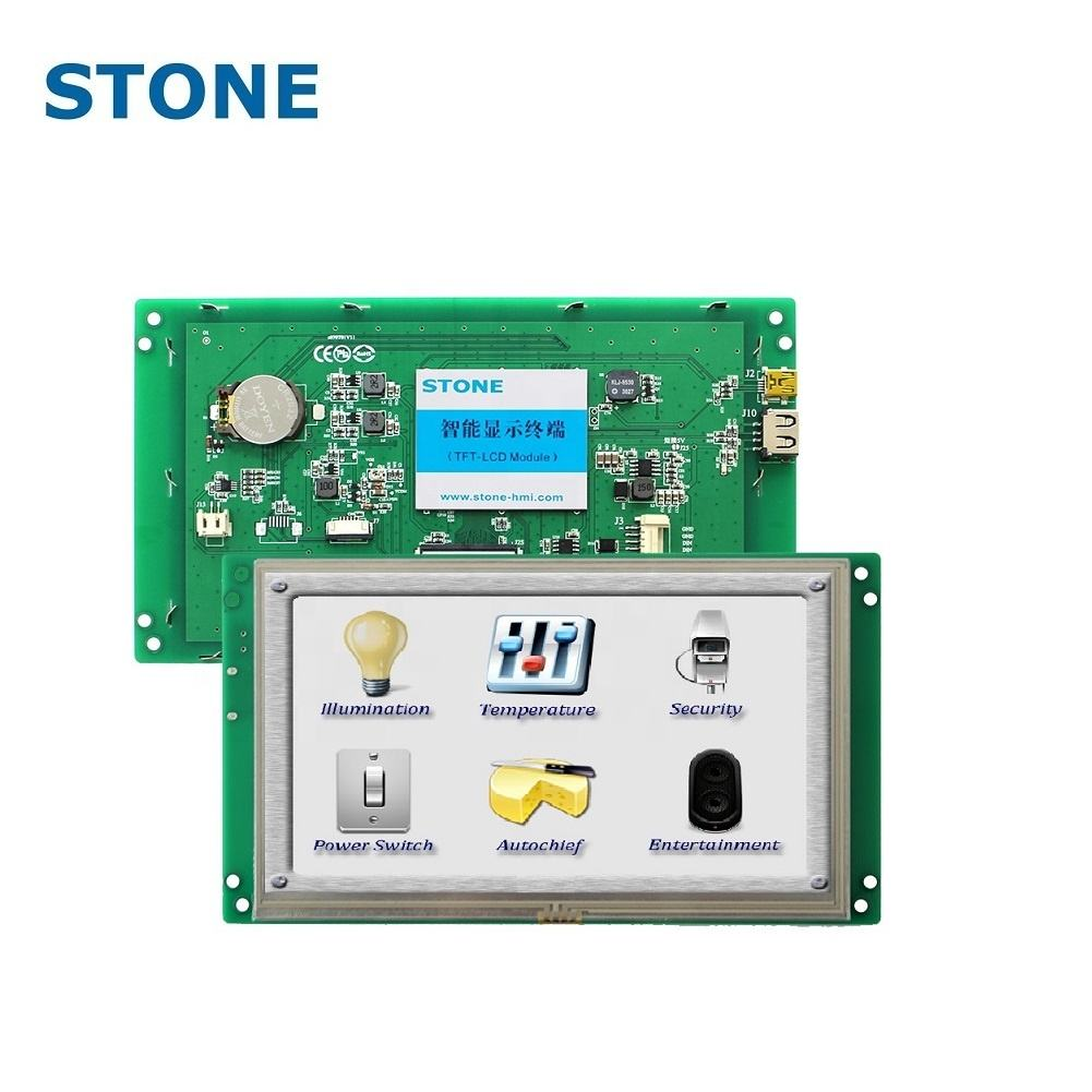 stone 7 inch lcd display module 1024x600 with colourful touch screen