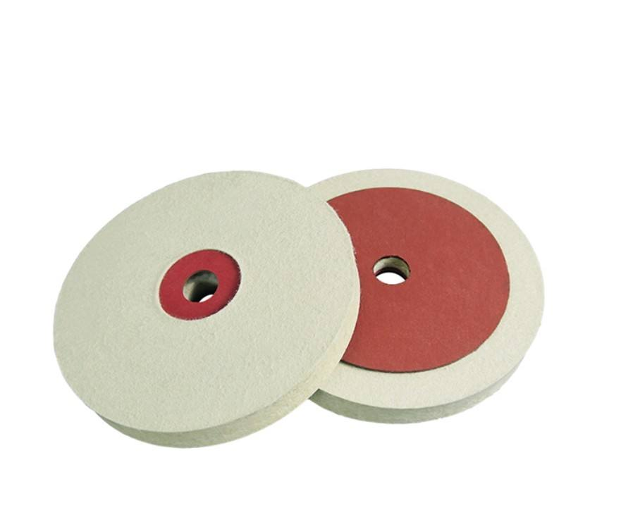 abrasive leather felt polishing wheels disc with red paper for stone