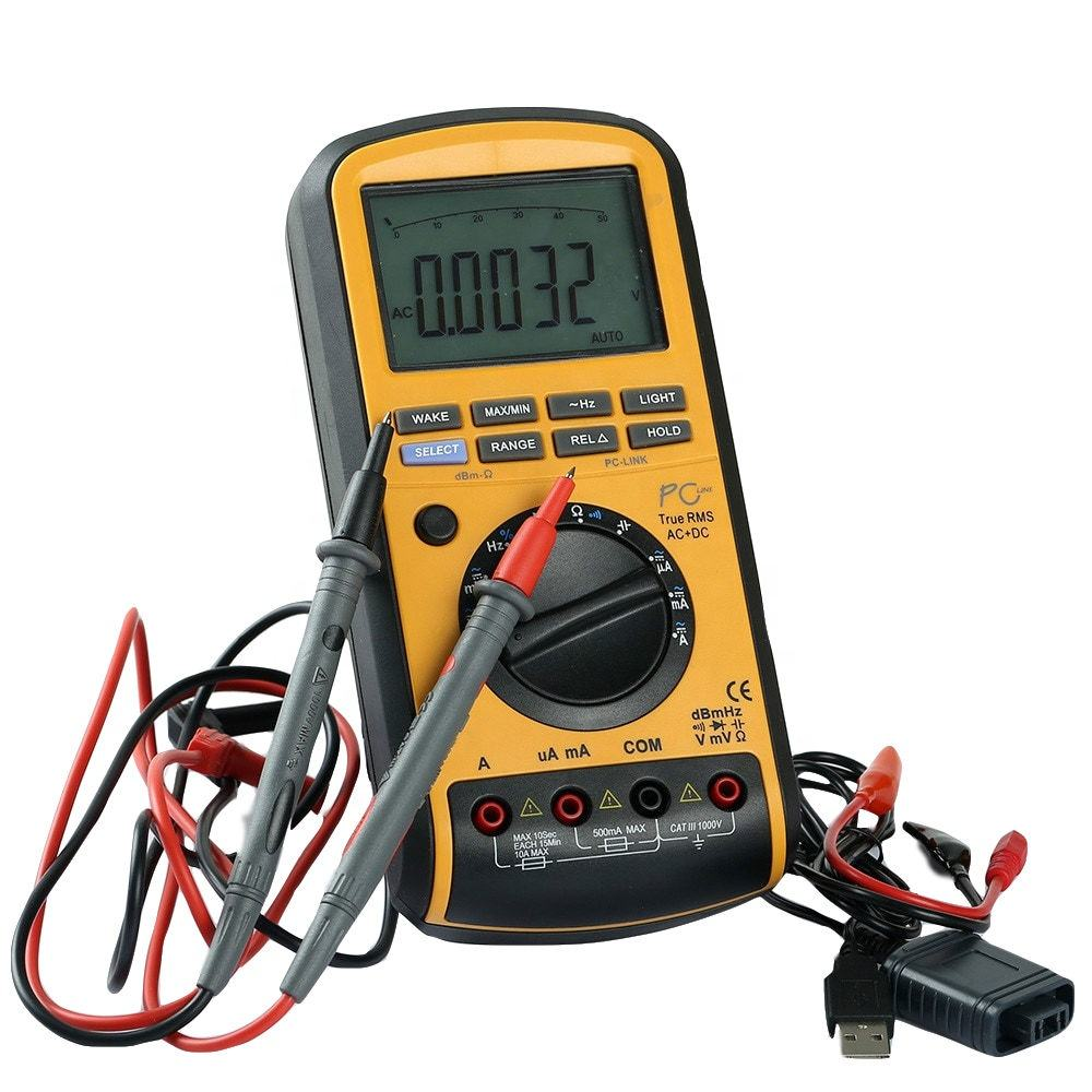 professional digital multimeter with USB and true RMS, 50000 counts portable digital multimeter same to Mastech MS8218