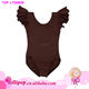 New arriving wholesale girls ballet dance leotards cotton kids brown Toddler & Girls Flutter Short Sleeve gymnastic leotards