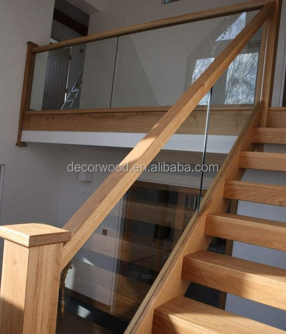 Modern design solid wood oak staircase tread design