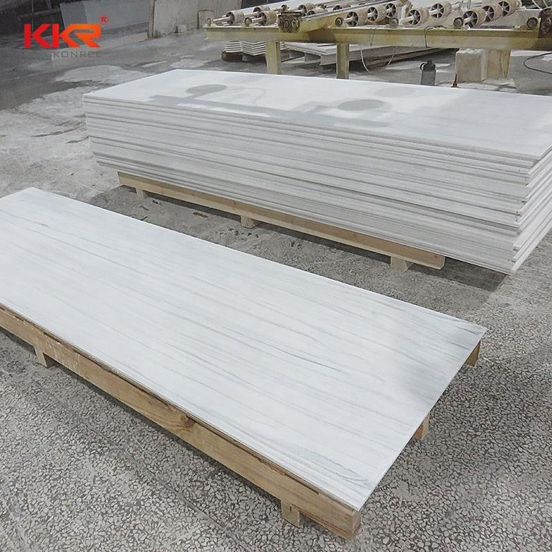 High Density Artificial Stone Faux Marble Panels For Countertops Corians