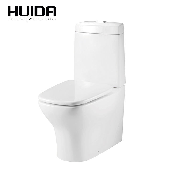 HUIDA white washdown dual flush close-coupled sanitary ware toilet wc seat in cheap price from China