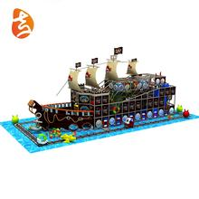 Commercial grade kids outdoor pirate ship playground equipment, pirate ship indoor playground for sale