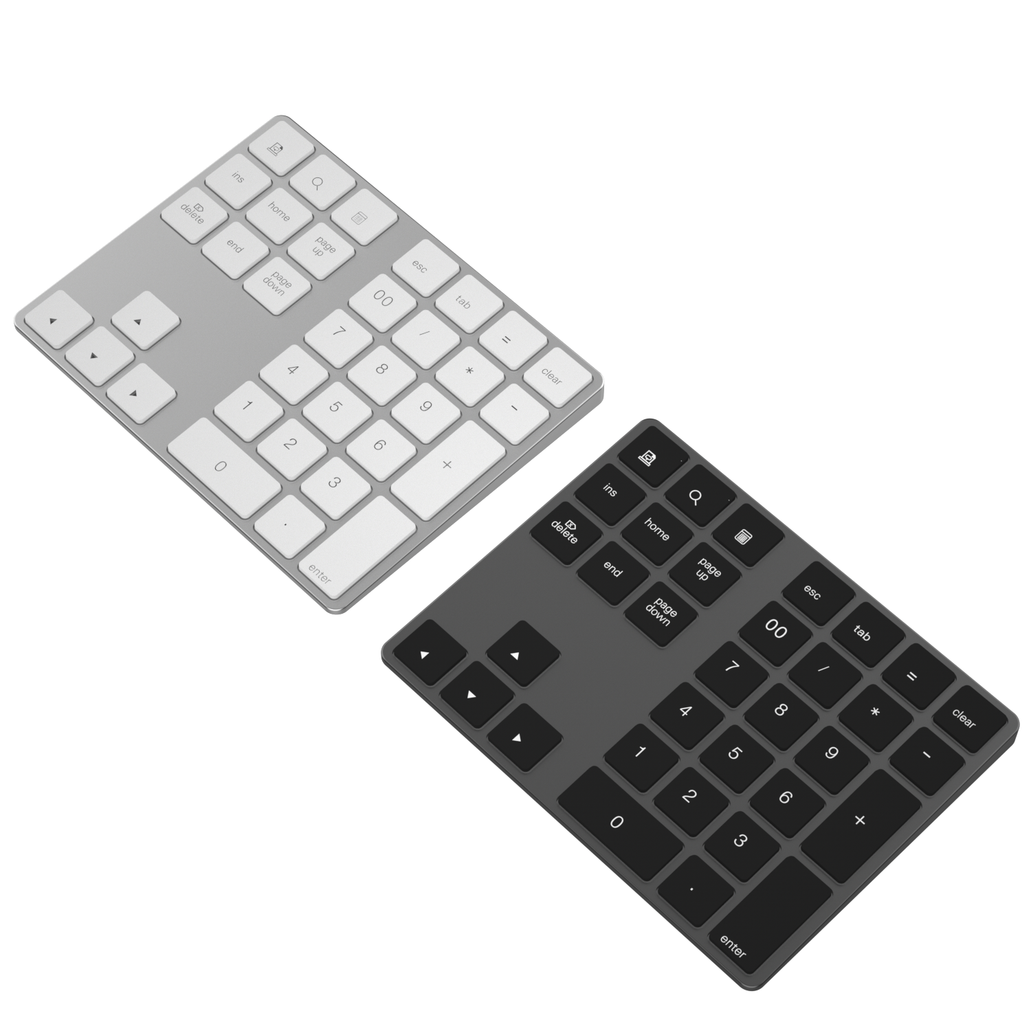 Numberic Nomor Pad Desktop 34 32 Kunci <span class=keywords><strong>Wireles</strong></span> Numerik Smart Aluminium Alloy Bluetooth <span class=keywords><strong>Keyboard</strong></span>