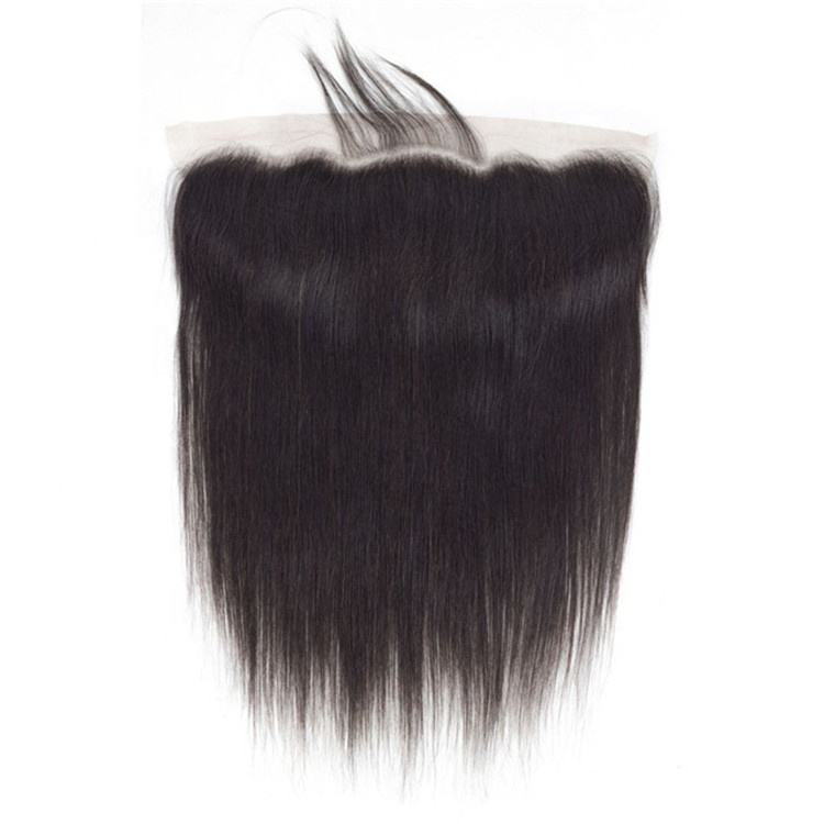Free Part Straight Mink Brazilian Human Hair 13*4 Lace Frontal Closure With Natural Hairline