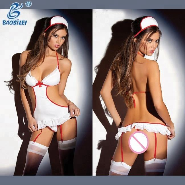 newest adult furry costumes sexy tight bra white nurse erotic lingerie
