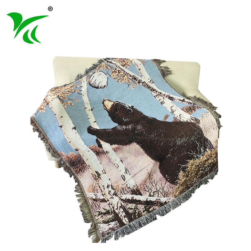 Professional Manufacturers woven thick custom design throw blanket