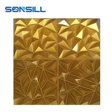 Gold waterproof modern plastic pvc decorative 3d wall panel mold
