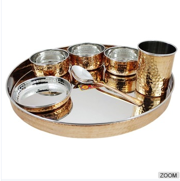 Dinnerware Stainless Steel Copper Traditional Dinner Set