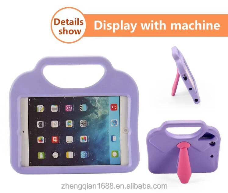 Tablet Case for Apple iPad mini 1 2 3 4 7.9 inch, Stand Tie Portable Silicone Plastic Cute Protective Cover for Kids