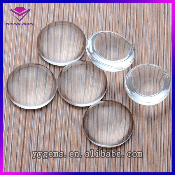 Transparent Glass Cabochon with Flat Back For Wholesale Decorative Stone