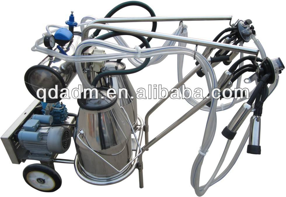 Stainless steel two buckets milking machine