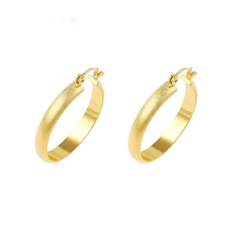 Xuping dubai altın 22 k 24 K İmitasyon mücevher küpe kadın