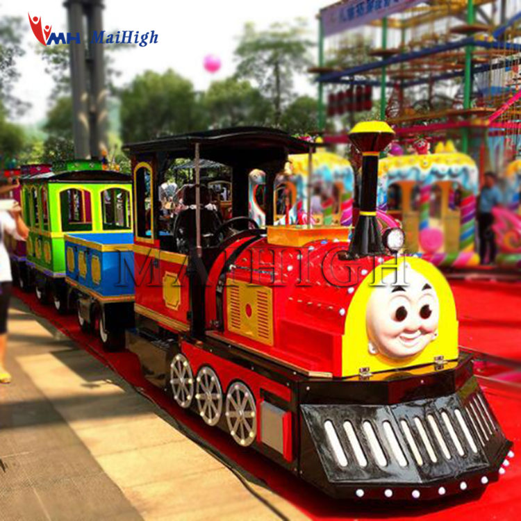 Parque de Atracciones al aire libre batería tren turístico paseo Mini niños utilizan tren sin rieles en venta