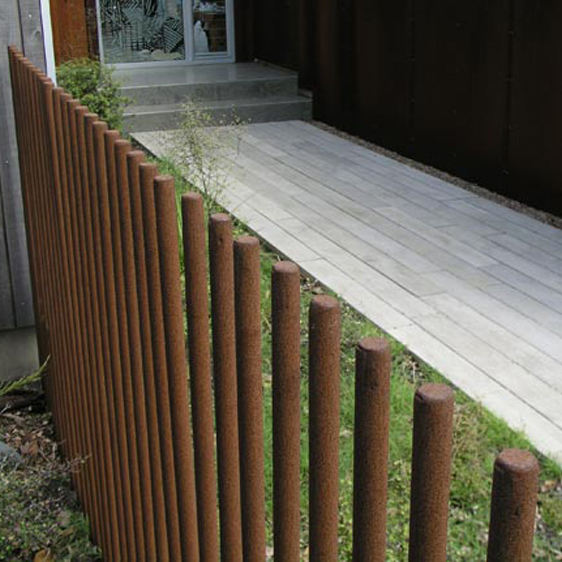 Corten Steel Bar Fence Post for Residential