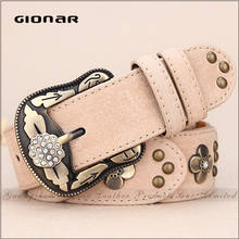 Alibaba Wholesale Women Embossed Diamond Cool Jeans Slimming Lady Belt