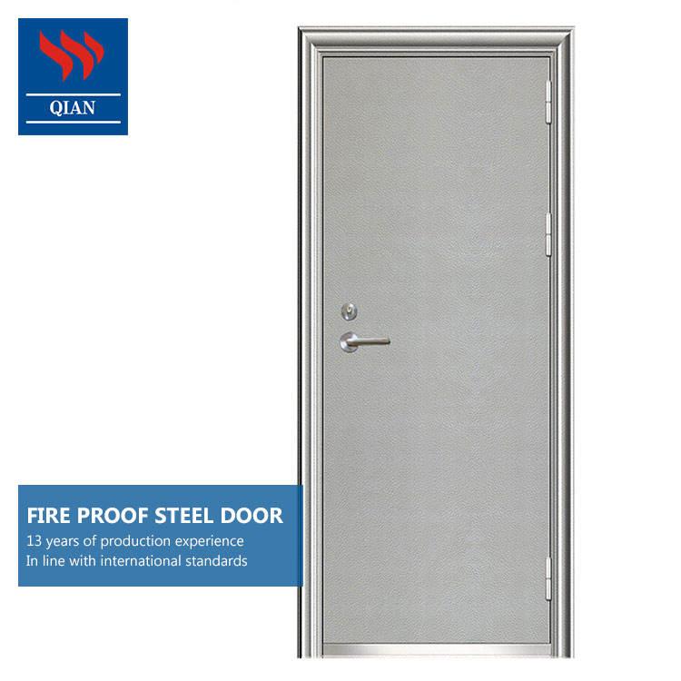 BS 476 Security Steel Fire Rated Door Fireproof Metal Door with certificate