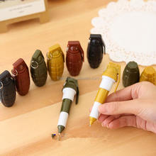 New novelty and grenades shape pen new design cross fire plastic ballpoint stretch pen for kids