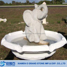 Carved Garden Elephant Water Fountain Statue