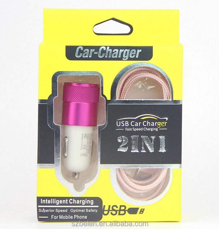 Горячие продажи электронный продукт зарядное устройство с кабелем заряда в поле 2In1 Кабель зарядного устройства