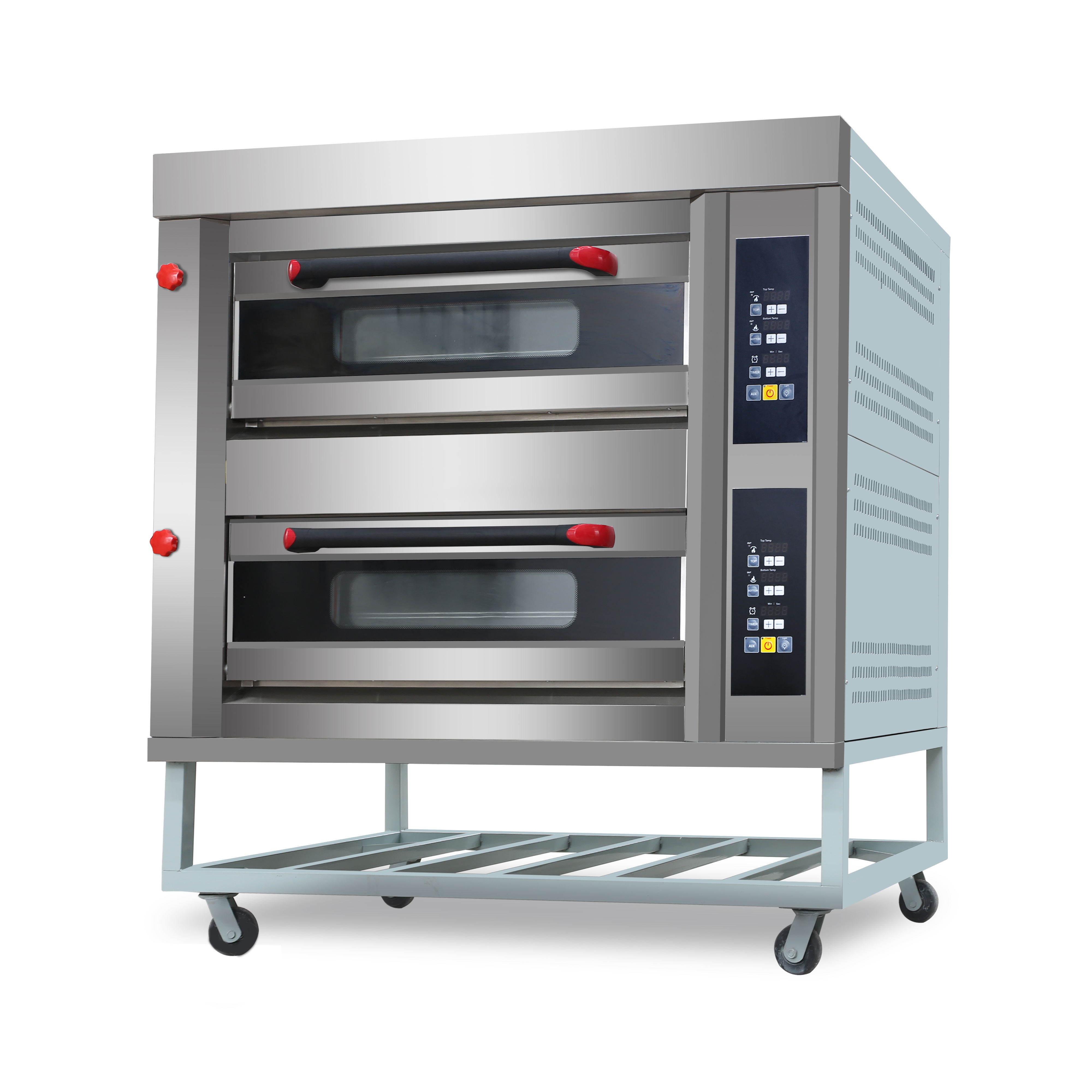 New Power commerical gas pizza oven pizza making machine with 2 layer